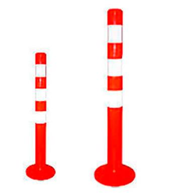 Пример ограничительного парковочного столбика